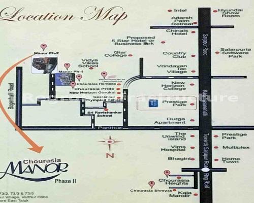 Chourasia Manor phase 2 location map