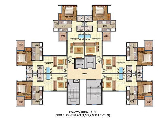 Lodha palava city 1 2 and 3 bhk apartments in dombivali mumbai for 1 bhk floor plan