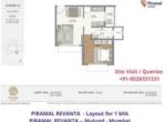 Piramal Revanta Residences in mulund mumbai - layout of 1 bhk apartment