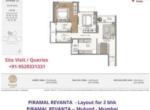Piramal Revanta Residences in mulund mumbai - layout of 2 bhk apartment