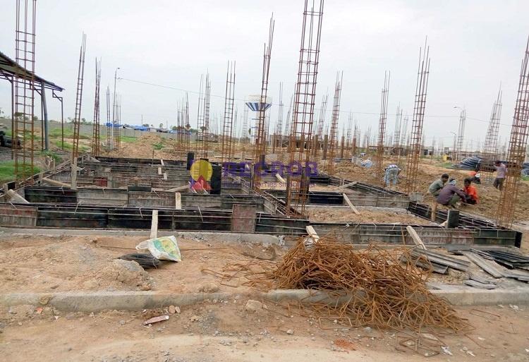 Praneeth Pranav Panorama Villa Hyderabad construction image