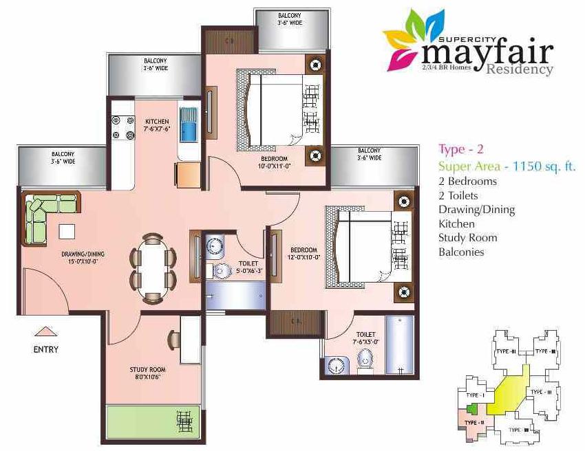 Miglani Mayfair Residency Noida Extension 2 3 Bhk Project