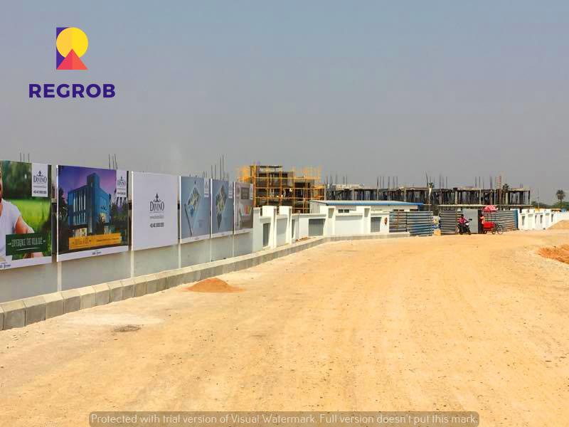 Incor Divino Villas Tellapur Hyderabad - construction site