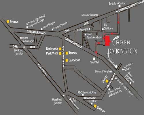 Bren Paddington Location Map