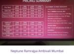 Neptune Ramrajya Ambivali Mumbai updated price list