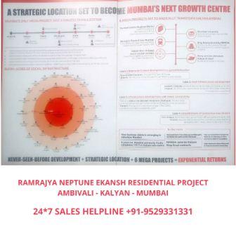 Neptune Ramrajya - 1 and 2 bhk apartments for sale in Ambivali Mumbai - Contact +91-9529331331