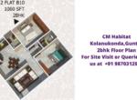 CM Habitat Kolanukonda Guntur 2bhk Floor Plan