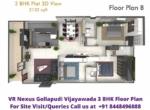 VR Nexus Gollapudi Vijayawada 3BHK Floor Plan