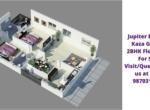 Jupiter Enclave Kaza Guntur 2BHK Floor Plan