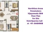 Northaface Avasa Penamaluru Vijayawada 3BHK Floor Plan