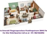 Utkarsha Emerald Visakhapatnam, Thagarapuvalasa 3BHK Floor Plan