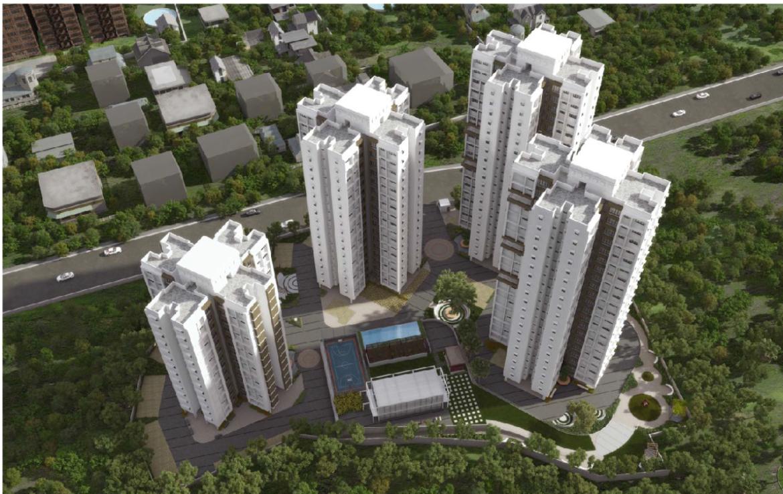 Raunak Unnathi Woods Phase 7B Kasaravadavali E, Thane Aerial View